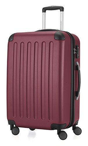 HAUPTSTADTKOFFER - Spree - Hartschalen-Koffer Koffer Trolley Rollkoffer Reisekoffer Erweiterbar, TSA, 4 Rollen, 65 cm, 74 Liter, Burgund
