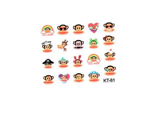 Sticker Nägel Original-Monkey Affen-KT81