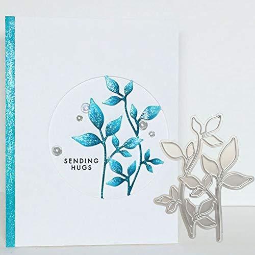 Huhuswwbin Stanzschablone aus Metall, Blume Hintergrund Metall Stanzformen DIY Pr?geschablone Scrapbook Papier Handwerk - Silber