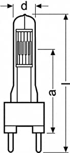 Osram 64789 CP/73 2000W 240V studio lighting