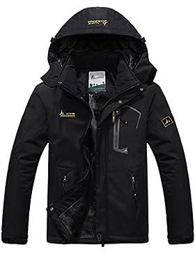 Salamaya Hombre Chaqueta de Esquí Chubasqueros Al Aire Libre Impermeable Chaqueta de Nieve Lana Capa Excursionismo...