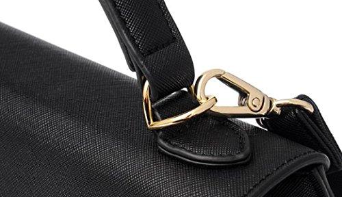 Einfache Mode Hit Farbe Handtaschen Nähen Locking Umhängetasche Damen Tasche B