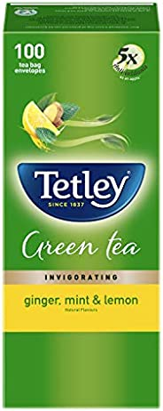 Tetley Green Tea Bags - Ginger, Mint & Lemon, 100