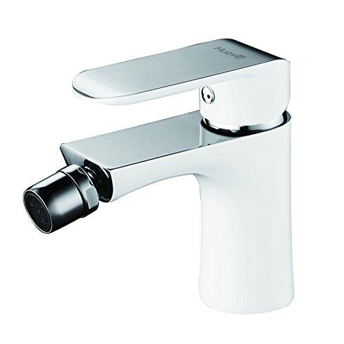 Lux-aqua Bidet-Armatur Wasserhahn Armatur verchromt und mit Weißlack WDG46431JW