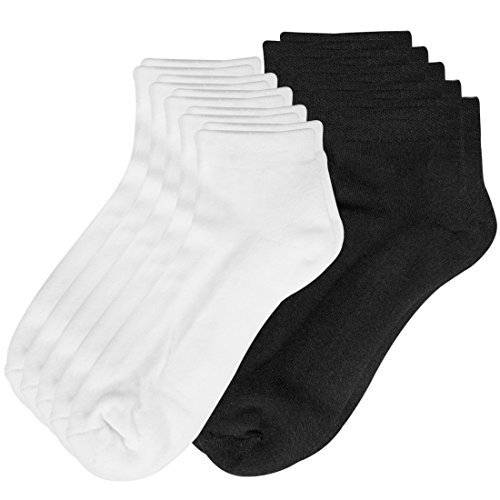 Lower East Calcetines deportivos con suela de rizo y puño confort, se