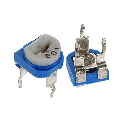 Generic 5Pcs 6mm 10K OHM Trimpot Trimmer Pot Variable Resistor Horizontal One piece