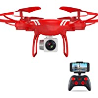 Price comparsion for ZZH Drones with Camera 500W Px,Remote Control Aircraft Aerial Photography Phone Red Black Present Gadgets Quadcopter Drones for Kids Adults Beginners