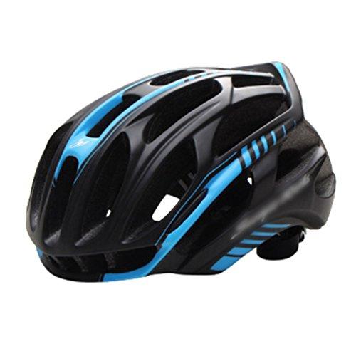 Dexinx Männer Frauen Stoßfest Atmungsaktiv Fahrradhelm Leichtgewicht Professionellem Mountainbike Helme Schwarz Blau 54-59cm