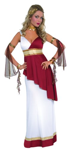 Mega fancy dress - costume da imperatrice romana/greca, taglia: 36-44