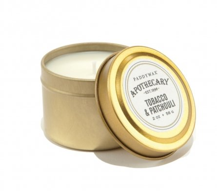 Paddywax Apothecary Gold Travel Tin - Tobacco & Patchouli Scented