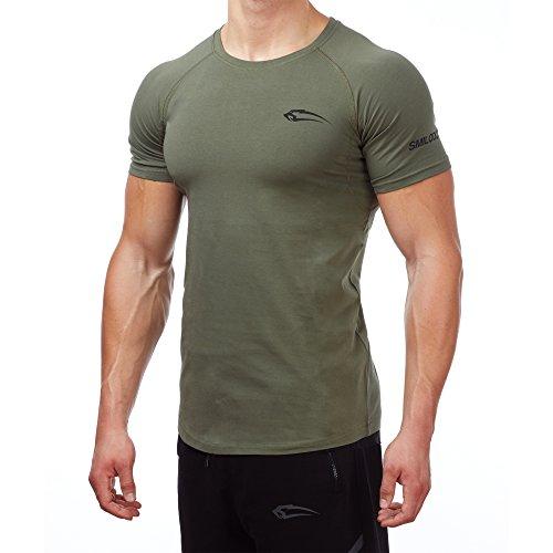 Smilodox Herren Slim Fit T-Shirt 2.0 Dunkelgrün