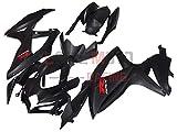 LoveMoto Verkleidung für GSX-R600 GSX-R750 K8 2008 2009 2010 08 09 10 GSXR 600 750 ABS Spritzguss Kunststoff-Motorradverkleidung-Sets Schwarz