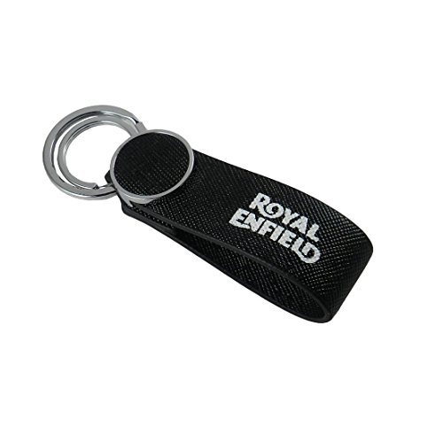 GCT Royal Enfield Motorcycles RE Logo Nylon Metal Keychain | Keyring | Key Ring | Key Chain for your Bike Keys | Men Women Boys Girls | for Bullet Classic 350 Thunderbird 500 Electra (Black/Silver)  available at amazon for Rs.249