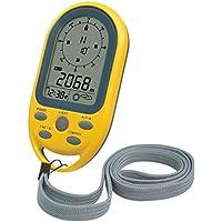 Technoline EA 3050 Kompass mit Höhenmesser, Luftdruckanzeige, Uhrzeit, Anzeige von Wettertendenz gelb, 5,4 x 10,3 x 1,7 cm