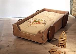 Woodly - Lettino Legno Montessori - abete naturale - 126x66