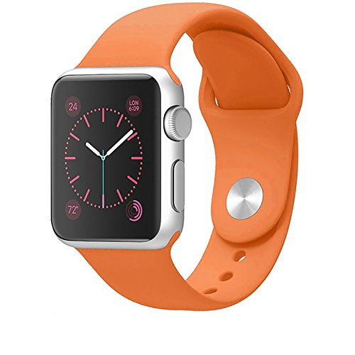 House of Quirk iWATCH Silicon Strap Band 42Mm - Orange (Watch Not Included)