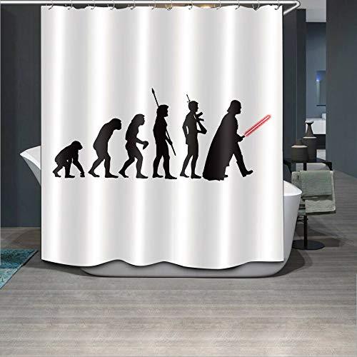 Caichaxin Decoración baño sorda Star Wars Cortina