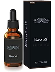 Huile pour barbe Beard oil Breett Barbe Pure Naturelle Huile de Soin, Huile essentielle pour la barbe de l'homme 30ml