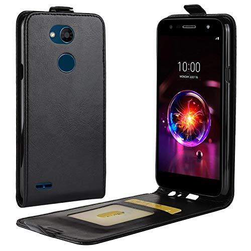 HualuBro LG X Power 3 Hülle, Premium PU Leder Leather HandyHülle Tasche Schutzhülle Flip Case Cover mit Karten Slot für LG X Power3 Smartphone (Schwarz)