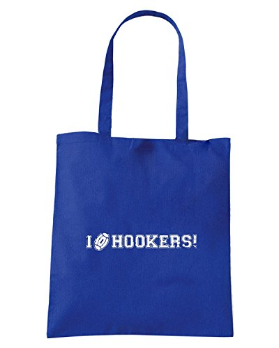 T-Shirtshock - Borsa Shopping WC0270 CLEARANCE - RUGBY T-SHIRT - I LOVE HOOKERS Blu Royal