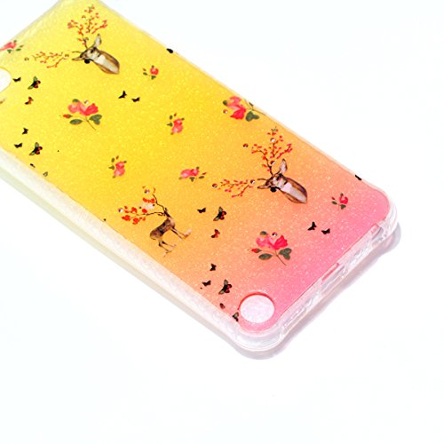 Coque iPod Touch 5 Glitter, iPod Touch 6 Coque Brillante, SainCat Ultra Slim TPU Silicone Case pour iPod Touch 5/6, Glitter Bling Diamante Strass Anti-Scratch Soft Gel 3D Housse Transparent Silicone C Faon