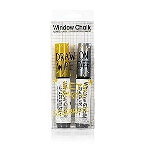 NPW NP32116 Fenster-Marker-Kreidestift, Silber und Gold Duo
