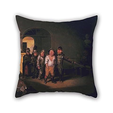 Slimmingpiggy Taie d'oreiller de peinture à l'huile David Gilmour Blythe–Justice 45,7x 45,7cm/45par 45cm, meilleure adaptation pour une salle de danse, festival, filles, extérieur, famille, Shop deux
