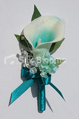 Schöne Jade Grün zentriert Picasso Lily Brautkleid, elfenbeinfarben (Jade Brautkleider)