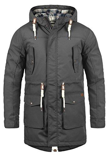 !Solid Chara Herren Winter Jacke Parka Mantel Lange Winterjacke gefüttert mit Kapuze, Größe:XXL, Farbe:Dark Grey (2890)