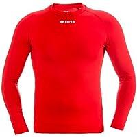 ERMES JR Funktionsshirt (langarm) von Erreà · KINDER Jungen Mädchen Sport Unterziehshirt (lang) aus Polyester · BASIC Slim-Fit Shirt (elastisch) für Teamsport · BASELAYER Kompressionsshirt (endotherm) geringe Kompression (Farbe rot, Größe YXS)