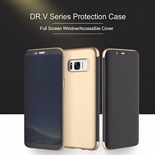 Sanchar's Original ROCK Dr.V Flip Case Cover For samsung galaxy s8 plus, Smart View Ultra Slim Full Screen Window Touchable Smart UI Translucent Touch Sensible Hard Case For Samsung Galaxy S8 Plus S8+ (6.2