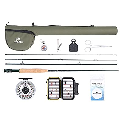 Maxcatch Extreme Fly Fishing Combo Complete Fly Rod Kit 9' 5weight from Maxcatch