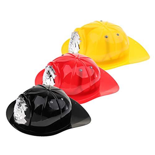 Toygogo 3 Stücke Rollenspiel Spielzeug Getriebe Kunststoff Feuerwehrmann Helm Feuerwehr Hut Kinder Cosplay Set (3 Stück Feuerwehrmann Kostüm)