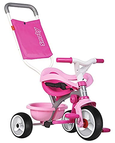 Smoby Toys-740404- Tricycle Be Move Confort, Tricycle Evolutif avec roues silencieuses, Rose