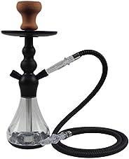 """Gooder 16"""" Hookah Shisha Set 1 Hose Hookah Combo Kit Set Glass Art Nargile Shisha Pipe Accessories-"""