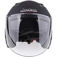 perfk 1 Pieza Casco de Cara Abierta para Motociclista Duradero Protector Solar Unisexo - Mate Negro