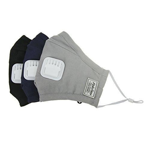 BaoCore Masque Anti-poussière Anti-pollution Anti-haze Protecteur PM2.5 Charbon Activé Chirurgicaux Respirant Anti-buée Visage Bouche lavable Extérieur Santé 3D Stéréo * 3pcs