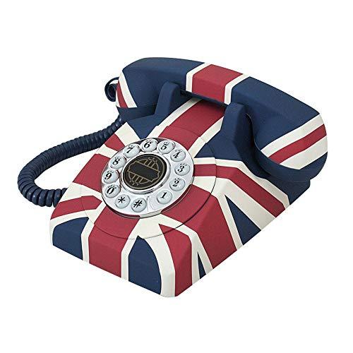 XHMCDZ M-Flag Telefon Vintage Telefon Retro-Telefonbüro Festlicher Festnetzanschluss im europäischen Stil Flag Telefon