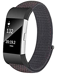Watch Strap,Hengzi Lightweight Nylon Skin-Friendly Loop Watch Band Replacement Watchband for Fitbit Charge 2