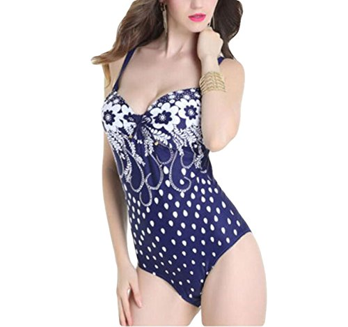 Ms. Dreieck Badeanzug Bikini-Badeanzug Europa Und Amerika Großformatdruck Blue