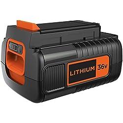 BLACK+DECKER BL20362-XJ Batterie lithium - Pas d'effet mémoire et faible autodécharge, 36V, Noir,