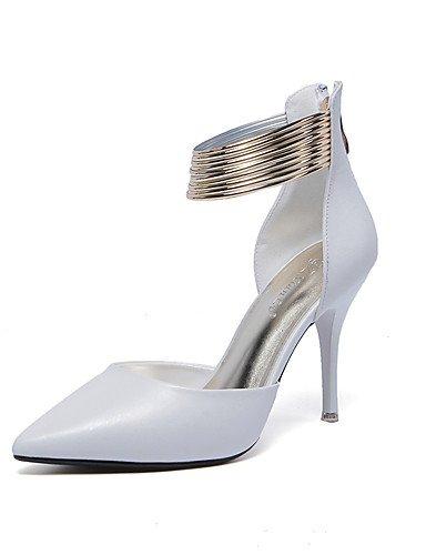 LFNLYX Chaussures Femme-Mariage / Habillé / Décontracté / Soirée & Evénement-Noir / Blanc-Talon Aiguille-Talons / Confort / Nouveauté / Bottes à White