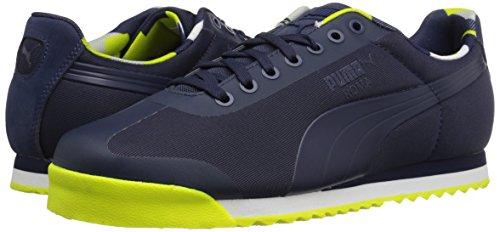 Puma Men s Roma Basic Geometric Camo Fashion Sneaker  Peacoat  6 5 M US