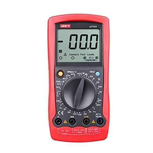 Laileya Tensión UNI-T UT105 Digital LCD Multímetro automotriz DC/Corriente Resistencia Diodo metro del probador de mano herramienta de medición