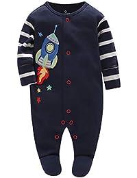 Mameluco del Bebé - Pijamas Bebé Peleles Algodón Mameluco Chicos Monos Mangas ...