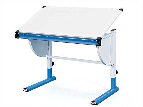 Inter Link Schülerschreibtisch Kinderschreibtisch Arbeitstisch Schreibtisch MDF Weiss Blau
