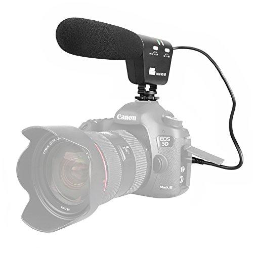 Pixel MC-50 Kamera Mikrofon Camcorder Mikrofon mit Tragetasche, Richtrohrmikrofon für DSLR Canon Nikon Panasonic Camcorder (Benötigt 3,5 mm Schnittstelle)