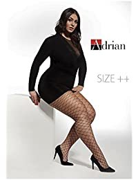 a4efb27bd5f6d Women Pantyhose Tights Fishnet Large Scale Plus Size Regular by Adrian New