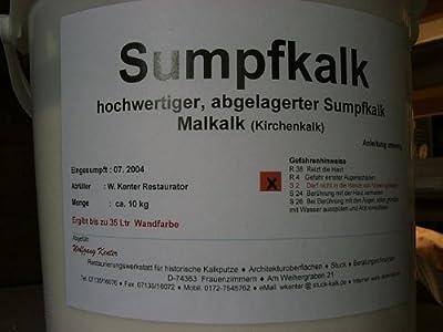 Kalkfarbe / Sumpfkalk. 30 M. gesumpft. 100% Bio. Allergiefreundlich. Pilzhemmend. 9,5kg Eimer von Kalk-Laden auf TapetenShop