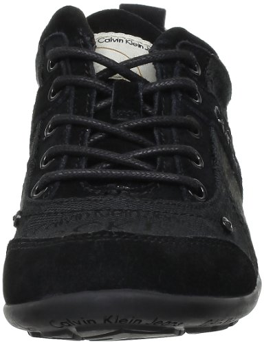Calvin Klein Jeans Glenna Ckj Jacquard Logo Sued, Baskets mode femme Noir (Blk)